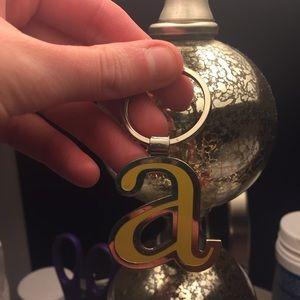 Nine West Initial Keychain